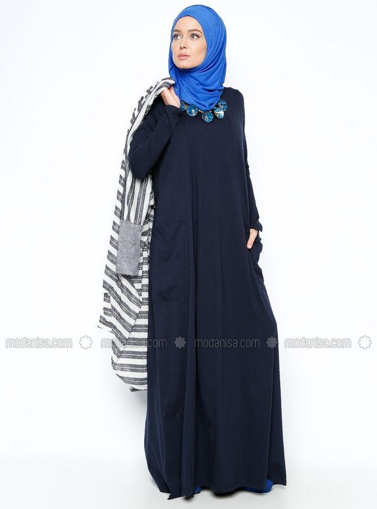 فستان مفصل بجيوب من Everyday Basic - كحلي