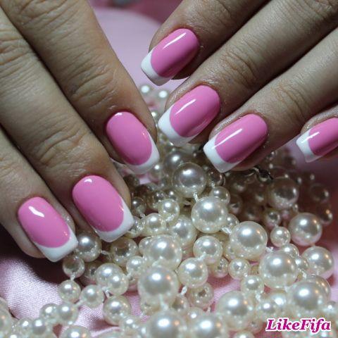 #Розовый_маникюр, #шеллак, #shellac, #французский_маникюр