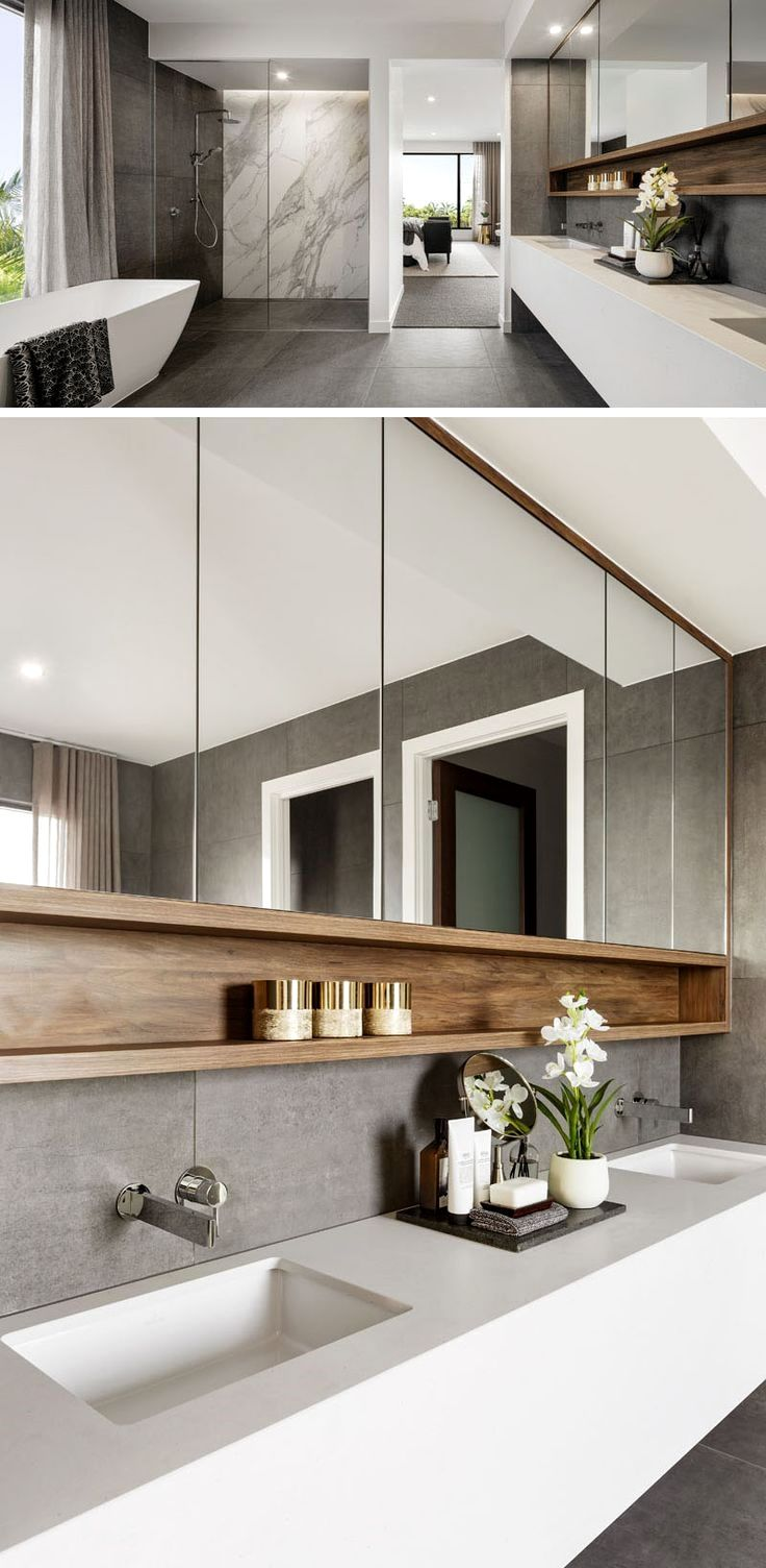 The Design Of The Riviera Is Focused On Indoor Outdoor Living And Space For Entertaining Modern Bathroom Modern Bathroom Design Bathroom Interior Design
