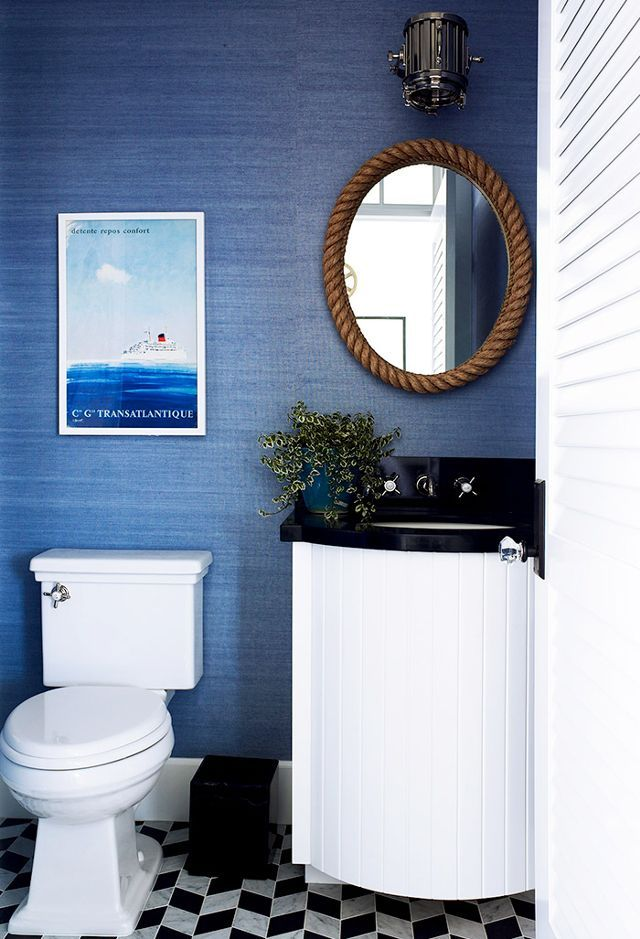 Small Blue Nautical Bathroom