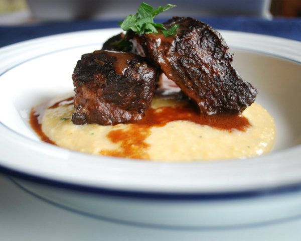 This sounds d-lish! Braised Short Ribs of Beef over polenta