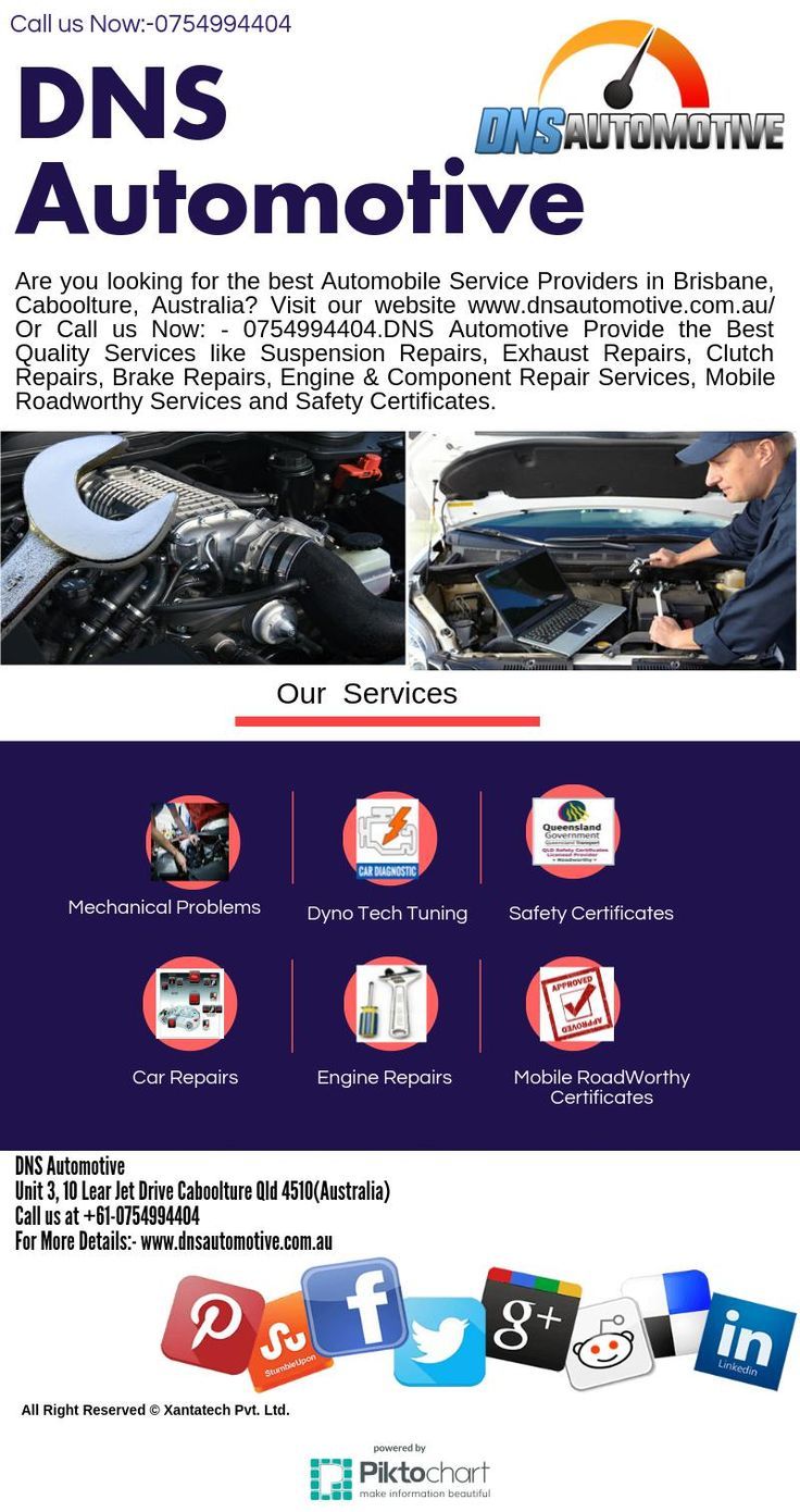 DNS Automotive is one of the leading and quickly Rising Company of Automobile Services.We provide a best services in Brisbane ,Morayfield, SE Queensland, Caboolture, Australia . Get more details about our company visit: DNS Automotive ,Unit 3, 10 Lear Jet Drive Caboolture Qld 4510(Australia)  or Call us at +61-0754994404
