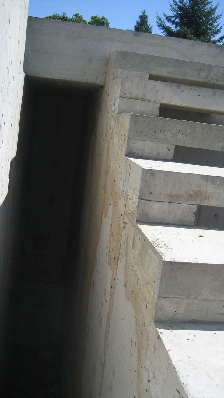 Best Exterior Concrete Cantilevered Stair Side View Detail 640 x 480