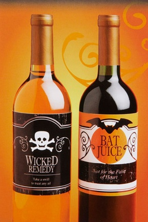 Halloween Bottle Lables