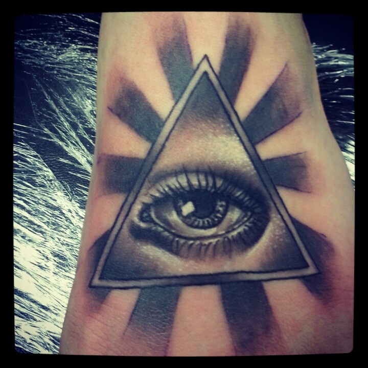 All seeing eye tattoo. Work done by Cassie Eisenhour at Jojo's in Coeur d Alene Idaho