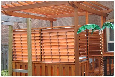 Creative Diy Fence Outdoor Project Louvered Hardward