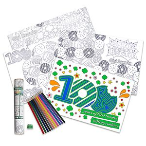 cookie poster coloring set girl scout