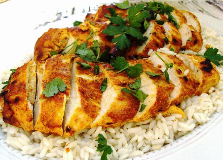 Frango Tandoori com arroz de cardamomo e canela