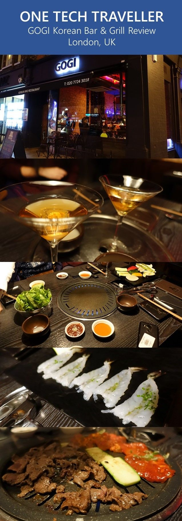 """""""We had a great time overall at GOGI Korean restaurant London. The Korean BBQ was a nice experience, the quality of the meat and seafood were very good and the Makgeolli (막걸리) drinks reminded me of being in South Korea""""   Read my full review: http://onetechtraveller.com/gogi-korean-bar-grill-london/  Follow One Tech Traveller Instagram www.instagram.com/onetechtraveller Facebook www.instagram.com/onetechtraveller"""