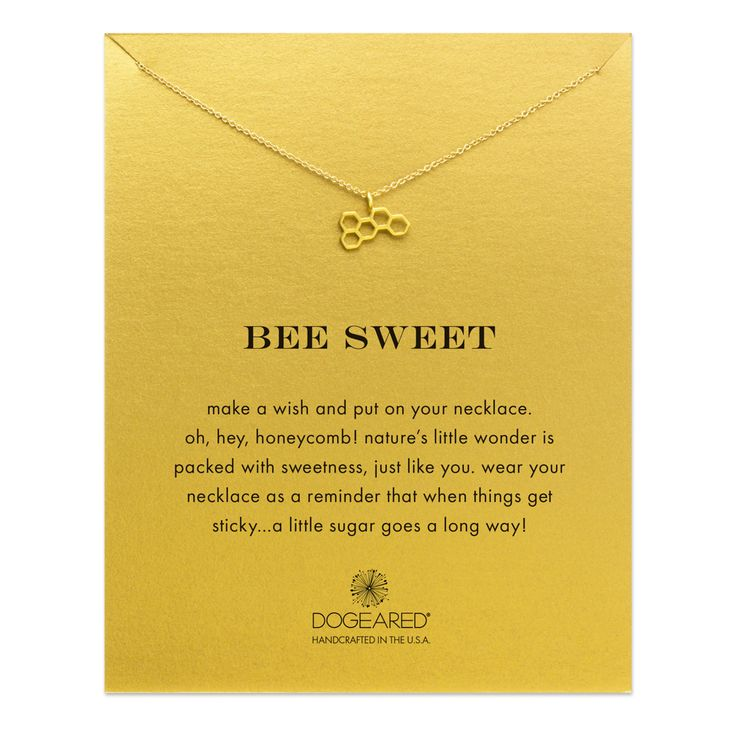 bee sweet honeycomb necklace, gold dippedbee sweet honeycomb necklace, gold…