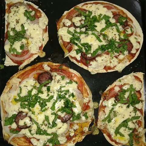 Pizzetas de chorizo y verduras