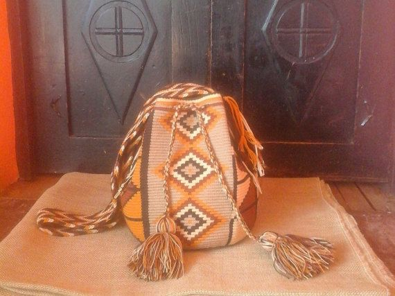 Wayuu Mochila Bag / Hand-Woven / Earthy Colors / by CasaLunaCo