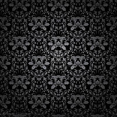 seamless gothic ornamental wallpaper, floral pattern, illustration