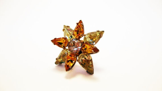 #Vintage Rhinestone Star #Brooch by Treasures On Broadway, $14.00