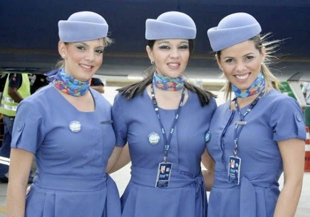 Azul Brazillian Airlines + Flight Attendants from different Countries