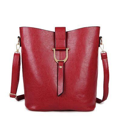 Large capacity Bucket high quality Pu leather Shoulder Bag luxury handbags designer bolsas de festa de luxo bag casual Style