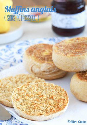 #muffins anglais sans pétrissage