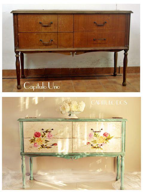 M s de 25 ideas incre bles sobre muebles antiguos pintados - Muebles antiguos pintados ...