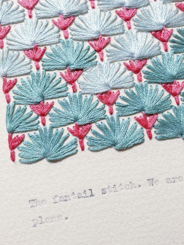 Izziyana fantail stitch via the red thread