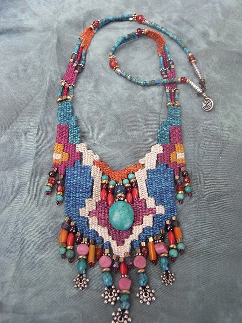 Needle woven necklace by AowDusdee on Filckr