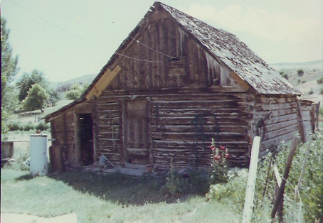 This old barn is behind by husband's grandfather's house... Redmond, Utah