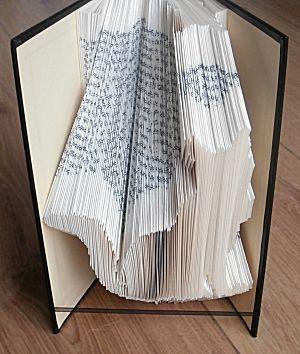 boekkunst poes - Leer zelf een boek in een kunstige vorm vouwen in 9 delen. Inclusief gratis patronen.