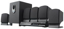 Brand New, Coby - 5.1 DVD Home Theater System (Product Category: Audio - Home) by Coby. $92.87. Brand New, Coby - 5.1 DVD Home Theater System (Product Category: Audio - Home)  5.1 channel system with 300W integrated amplifier, compatible with NTSC/PAL system, progressive scan DVD player, DVD, DVD-R/RW, CD, CD-R/RW and JPEG compatible, Dolby Digital decoder, optical / digital outputs, front panel and on screen display, 450W surround sound system, five full rang...