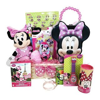 """GIft baskets: Get well GIft baskets About the product Minnie Mouse novelties(Original and Licensed) included in the Easter gift basket for girls, ages 3-8 A unique idea of gifts for kids to wish happy birthday special occasion This gift basket is 'Amazon' Choice' ! Minnie mouse Easter gift baskets for girls filled with a variety of candy, activities, and a plush Minnie Mouse doll Includes a Personal Gift Note - Check the box labeled """"This is a gift"""" in your cart or """"Add a Gift Receipt"""" at…"""