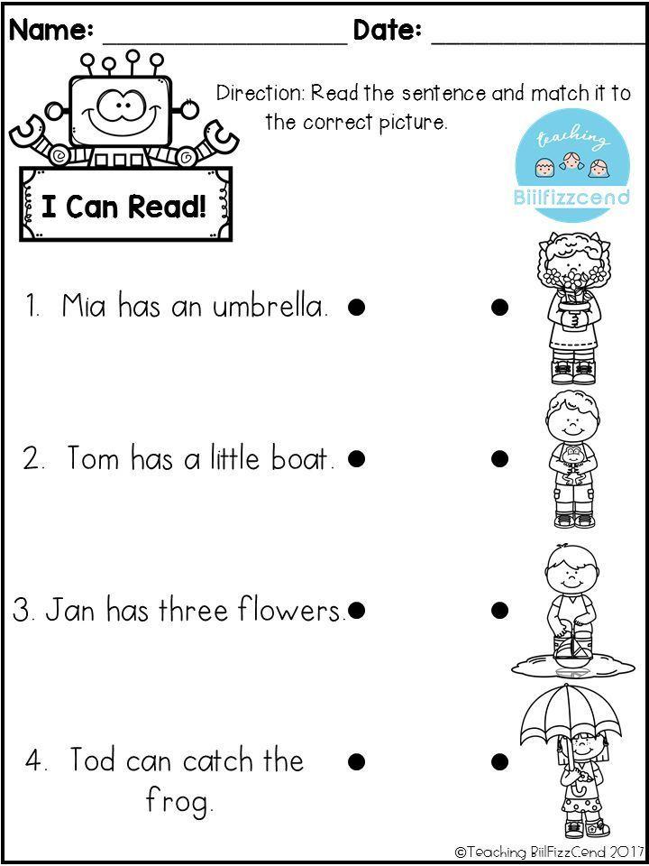 Free Reading Comprehension Activities Great For Pre K Kindergarten First Grade O Kindergarten Reading Kindergarten Reading Worksheets Reading Comprehension Kindergarten reading printable worksheets