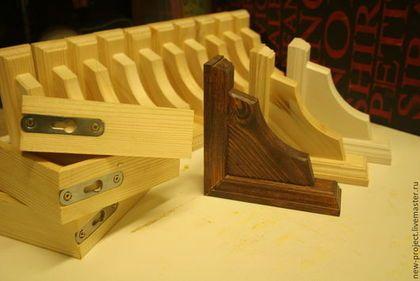 Мебель ручной работы. Ярмарка Мастеров - ручная работа. Купить Кронштейн для полки. Handmade. Разноцветный, кронштейн, кантри стиль, дерево