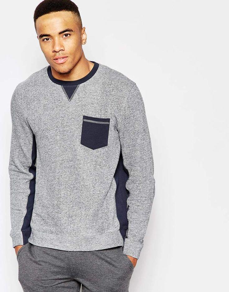 ASOS Loungewear Sweatshirt With Contrast Rib Detail