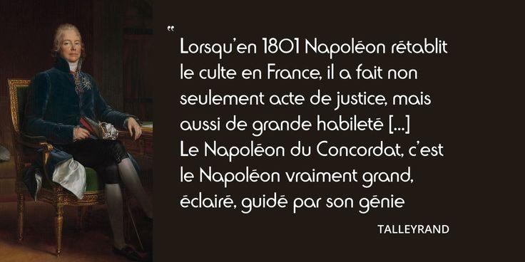 15 juillet 1801 : signature du Concordat. Napoléon et Pie VII en citations