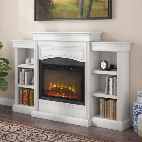 Allsop Mantel Wall Mounted Electric Fireplace In 2020 Wall Mount