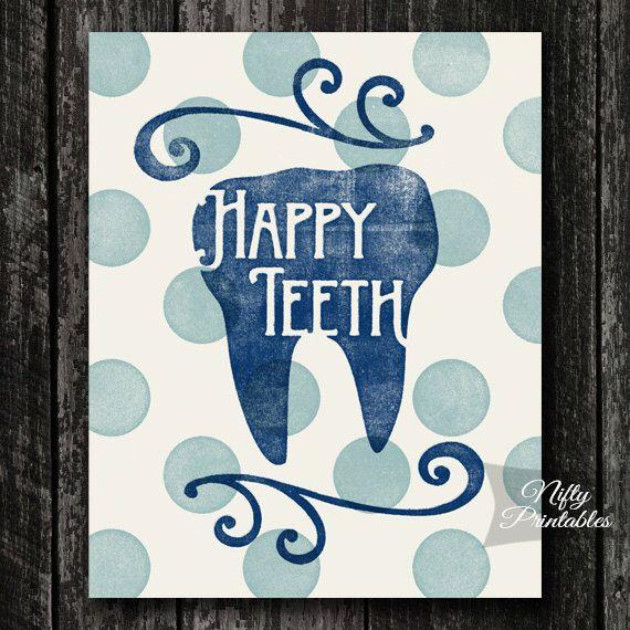 Tandheelkundige tanden PRINTBARE Poster - tandarts Print - mondhygiënist INSTANT downloaden - de giften van de tandarts - Dental Office Decor door NiftyPrintables op Etsy https://www.etsy.com/nl/listing/215506771/tandheelkundige-tanden-printbare-poster