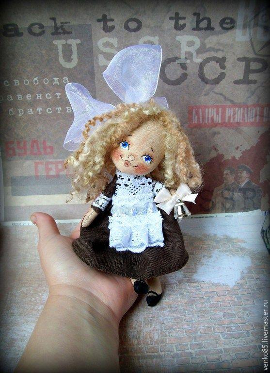Купить Чудо на ладошке Школьница 1 Сентября - школьница, кукла школьница, на 1 сентября