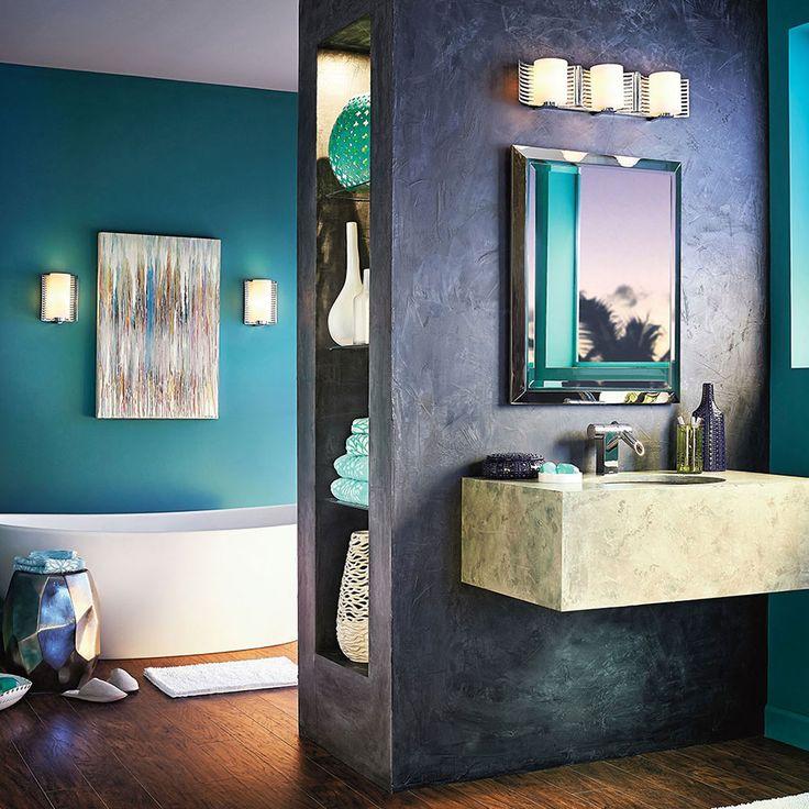 lighting of full three size bathroom home club depot fixture nickel kichler vanity brushed light mostfinedup