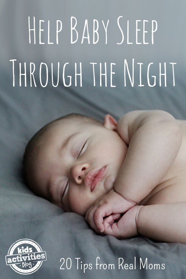 Helpful tips from other moms to help your baby sleep through the night.