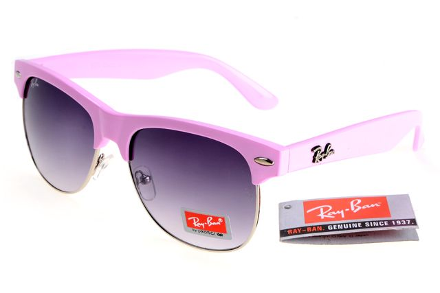 Ray-Ban Clubmaster 3016 Pink Frame Gray Lens RB1306 [RB-1329] - $27.30 : cheap sunglass, Ray Bans outlet