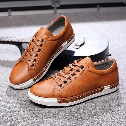 merkmak handmade men shoes brand casual shoes solid lace