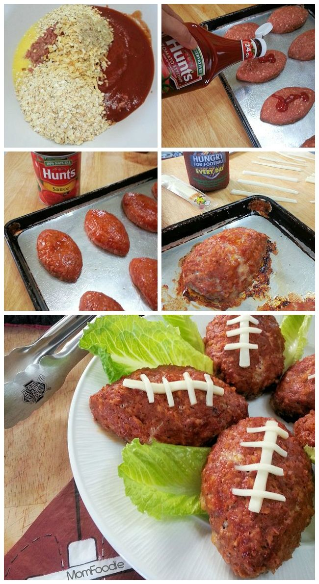 Individual Football Meatloafs!  #HomegateFever #recipe #meatloaf #football #footballseason #dinner #homegate #tailgate