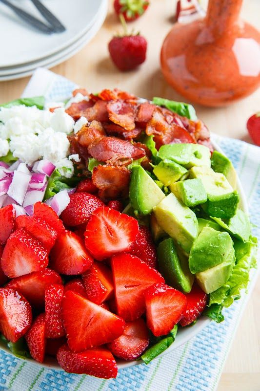 Strawberry and Avocado Salad with Strawberry Poppy Seed Vinaigrette