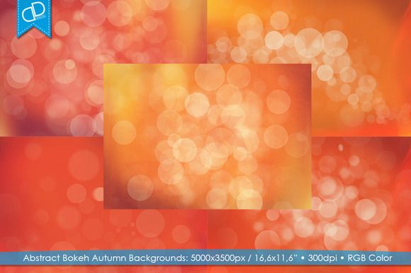 Abstract Bokeh Autumn Backgrounds by cDDesign on Creative Market
