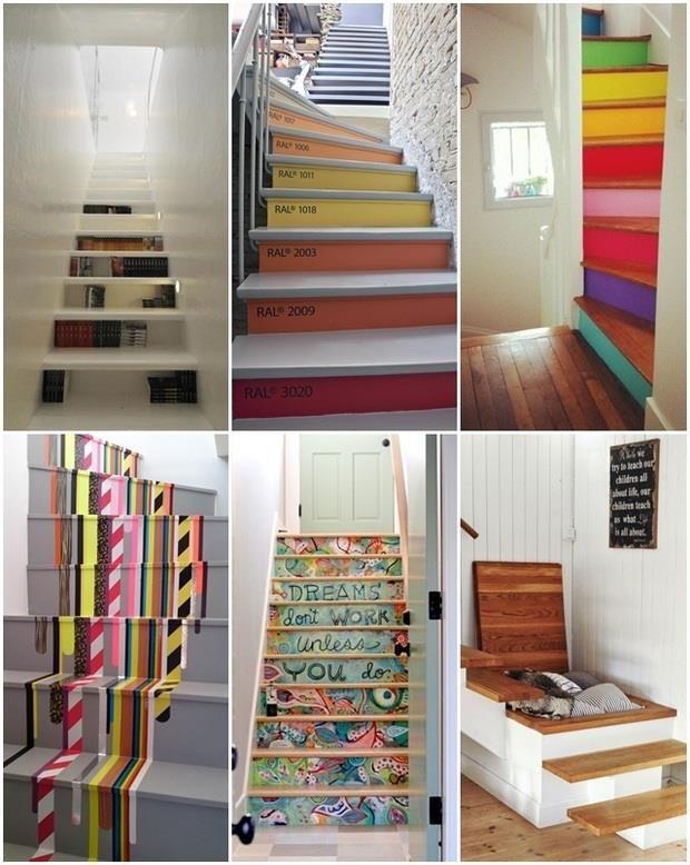 los peldaos de las escaleras pueden ser para que sean una pieza de arte dentro