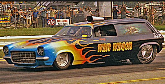 """War Wagon"" 1973 Vega panel Top Alcohol Funny Car"