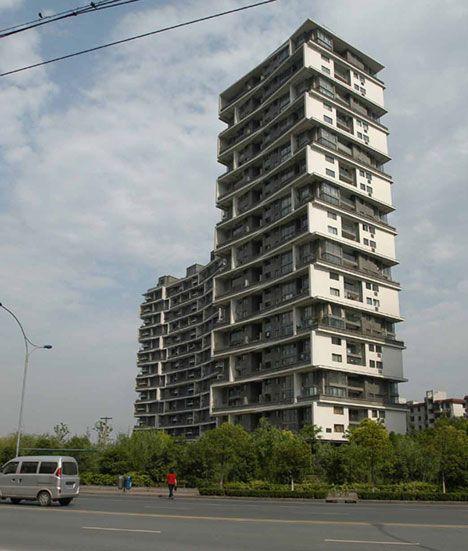 Vertical Courtyard Apartments, 2002-2007, Hangzhou, China  Photograph is by Lu Wenyu
