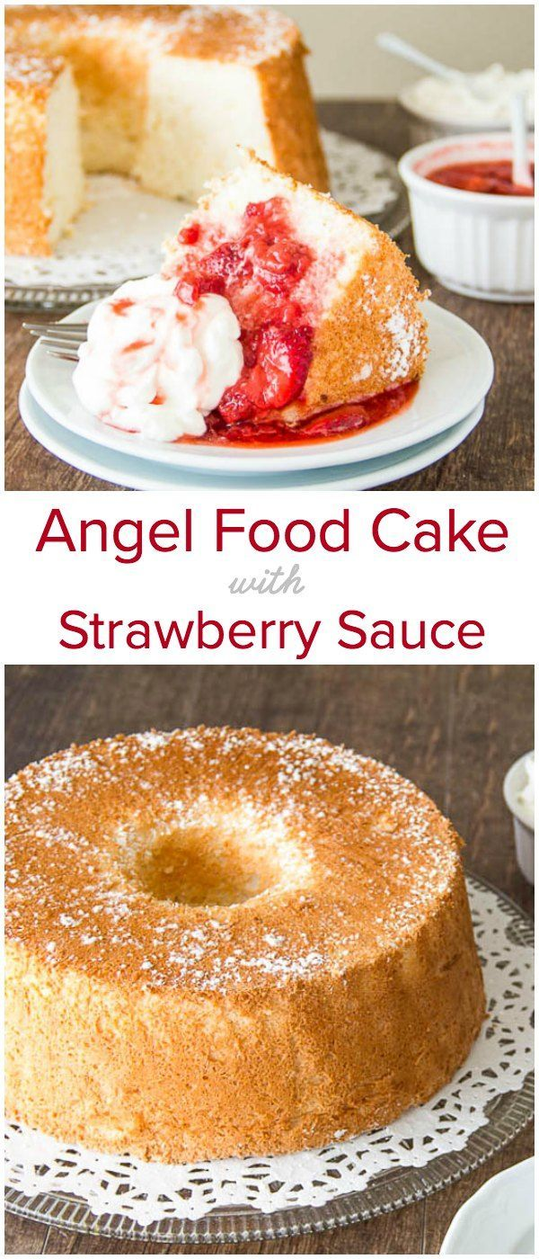 Angel Food Cake With Strawberry Sauce Recipe Bloggers