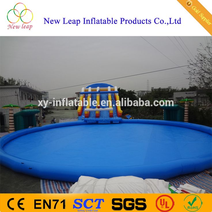 2017 inflatable water games parks equipment with big swimming pool