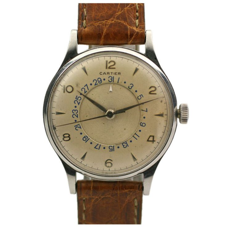 Cartier 1950 Time/Date price, ref JU10052521156 https://www.1stdibs.com/jewelry/watches/wrist-watches/