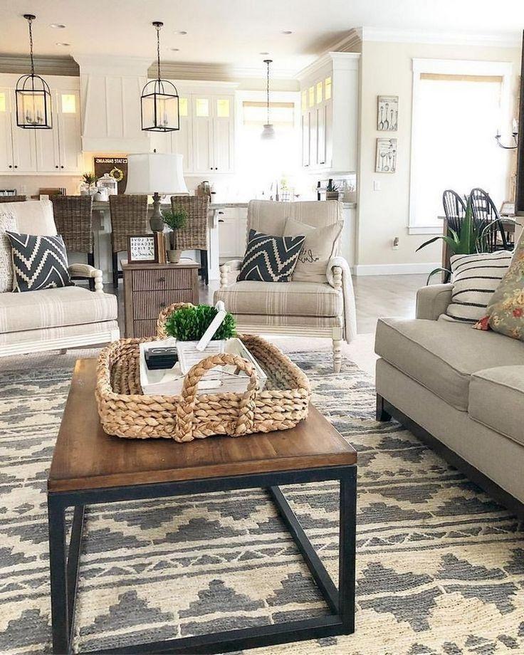 46 besten Wohnzimmer Dekor Ideen mit Bauernhausstil