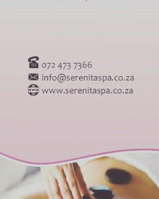 Phone Serenita mobile spa for great massage packages